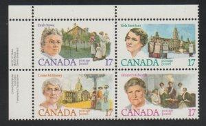 Canada 882a Canadian Feminist - MNH - block