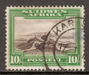 South West Africa - Scott #119b - Used - Thin center right - SCV $7.00