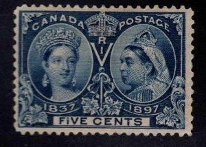CANADA Scott 54 MH* 5c Jubilee Queen Victoria 1897 CV $70