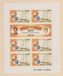 Nevis Scott #137-138 Stamps - Mint NH Souvenir Sheet
