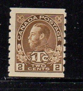 Canada Sc MR7a 1916 2c + 1c coil War Tax stamp mint die I