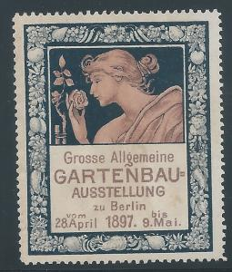 Germany, 1897 Berlin Horticulture Exposition, V.F., Poster Stamp