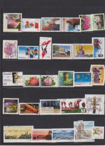 LOT OF DIFFERENT STAMPS OF CANADA USED(28) LOT#317