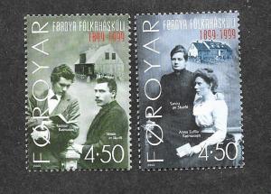 Faroe Islands 374-375 Mint NH!