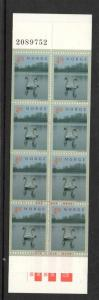 Norway Sc 1219a 1999 Swans stamp booklet mint NH