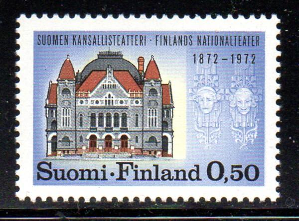 Finland Sc 514 1972 National Theatre stamp NH