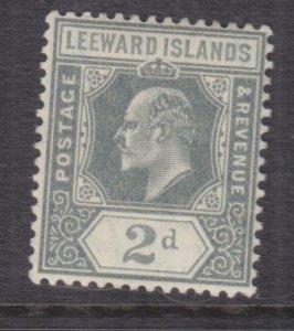 LEEWARD ISLANDS, 1911 KEVII, Mult. CA, 2d. Grey, lhm.