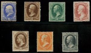 #156 // #165 (7) DIFF CBNCo. ISSUE SHORT SET F-VF OG LH UNUSED SOME FAULTS AU407