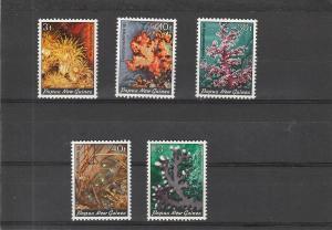 Papua New Guinea  Scott#  575-9  MNH  (1983 Corals)