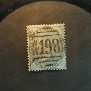 GB 28  1857  1 sh  used  fine