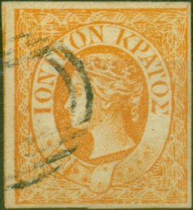 Ionian Islands 1859 1/2d Orange SG1 Fine Used Forgery