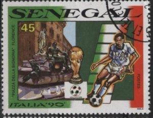 Senegal 878 (used cto) 45fr soccer / football, Italia '90