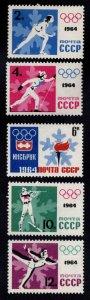 Russia Scott 2843-2847 MNH* Olympic stamp set