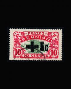 VINTAGE: REUNION 1915 USED LHR SCOTT #B1 $120 LOT #9257