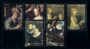 [100170] Grenada Carriacou 2001 Art Paintings Rembrandt Frans Hals  MNH