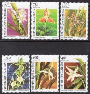 Benin MNH 795-800 Orchids Flowers 1995 SCV 3.55