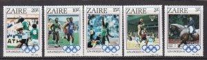 ZAIRE ^^^^^^# 1154-1158  MNH set ( 1984 L.A .OLYMPICS )  $$@ lar 232za