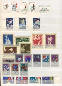 Romania Collection MNH CV$900.00 Attractive Little Little 1930S-80S In Stocka...