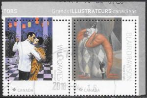 Canada 3092b-c Used - Great Canadian Illustrators (From S.S.) Davis & Drawson