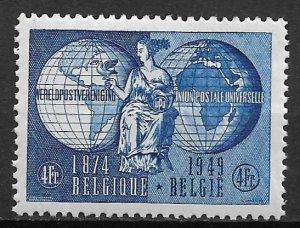 1949 Belgium Sc400 UPU 75th Anniversary MNH