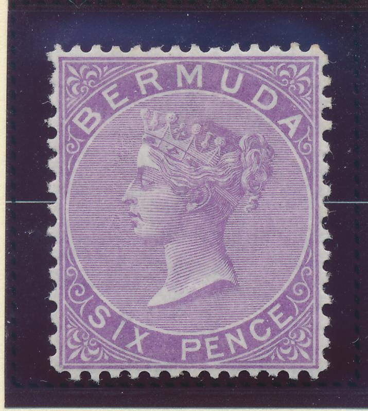 Bermuda Stamp Scott #8, Mint Hinged, Partial Gum