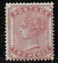 GB 81 1880 2 pence w/deep rose color