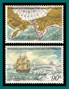 Norfolk Island 1978 Northern Voyages, MNH  235-356,SG213-SG214