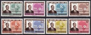 Rwanda #1-8  MNH CV $2.85 (A19239)