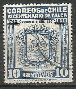 CHILE, 1942, used 10c  Talca Issue. Scott
