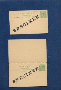 Selangor 1896 Reply postcard SPECIMEN