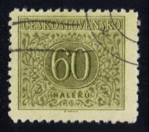 Czechoslovakia #J86 Postage Due, CTO (0.20)