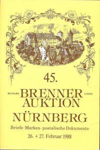 Brenner: Sale # 45  -  45. Brenner Auktion, Richard Brenn...