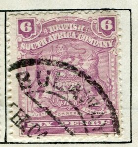 RHODESIA; 1898 early classic Springbok issue fine used 6d. value
