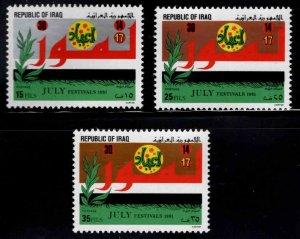 IRAQ Scott 1016-1018 MNH** set
