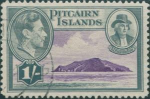 Pitcairn Islands 1940 SG7 1/- Christian and island FU