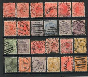 60747 - AUSTRALIA Victoria - STAMPS: LOT OF used STAMPS  nice POSTMARKS  Revenue