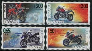 HERRICKSTAMP NEW ISSUES BULGARIA Sc.# 4782-85 Motorcycles 2016 Mint NH