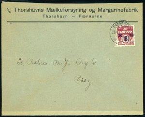 FAROE ISLANDS #3 Tórshavn to Vágur Cover 1941 Kingdom of Denmark