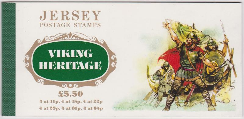 Jersey 2015 Sc. 431a-6a Cat. US$26.1987 Viking Heritage Booklet- VF-NH
