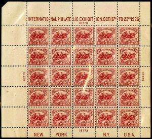 US Stamps # 630 MNH XF Pristine White Plains Intact Sheet Scott Value $550.00