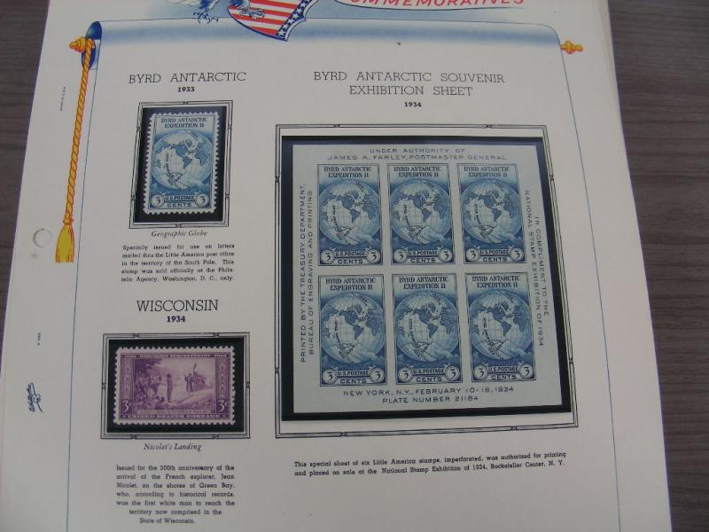 US, Excellent MINT NH Commemorative Stamp Collection mounted