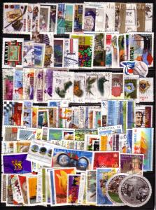 CANADA 100 DIFFERENT COMMEMORATIVES USED STAMPS LOT#13