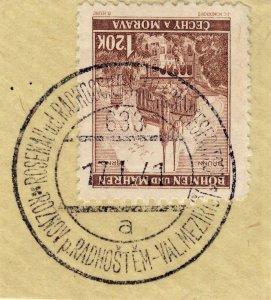 BÖHMEN u. MAHREN 1941 ROSENAU u.d.RADHOSCHT-WALLACH.MESERITSCH TPO n°633a /Mi.41