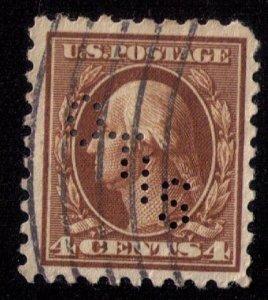 US Scott #465 USED 4c Orange Brown PERFIN OTIS VF