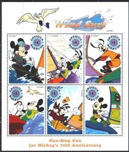 Antigua and Barbuda. 1999. Small sheet 2873-78. Sail racing, animation, disne...