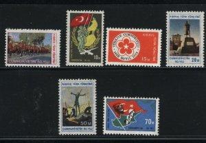 Turkish Republic of Northern Cyprus 2-7    Mint NH VF1974 PD