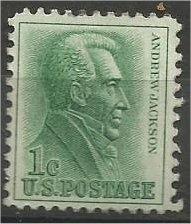 UNITED STATES, 1963, used 1c Jackson, Coil Scott 1209
