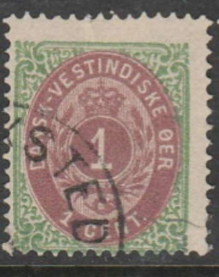 U.S. Scott #5c Danish West Indies - Possession Stamp - Used Single