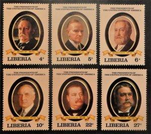 Liberia 923-31. 1982, April, U.S. Presidents, NH