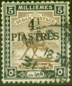 Sudan 1941 4 1/2p on 5m Olive-Brown & Black SG79 Fine Used (5)